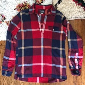 Vintage J. Crew Flannel  - 1/4 Button Down